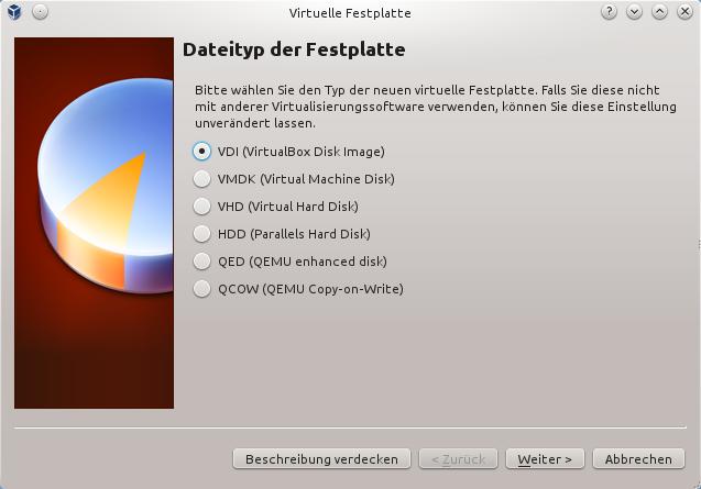 Dateityp der Festplatte