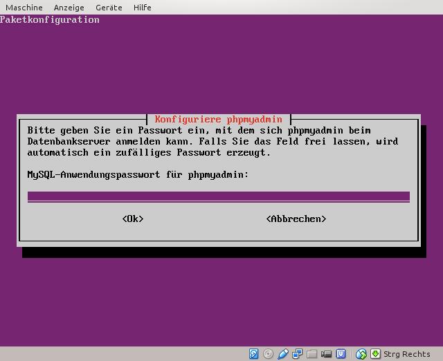 MySQL-phpmyadmin-Passwort festlegen