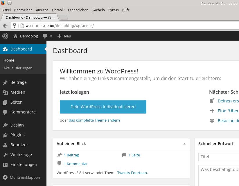 Willkommen zu WordPress
