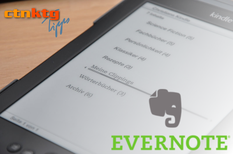 Kindle-Clippings in Evernote übernehmen